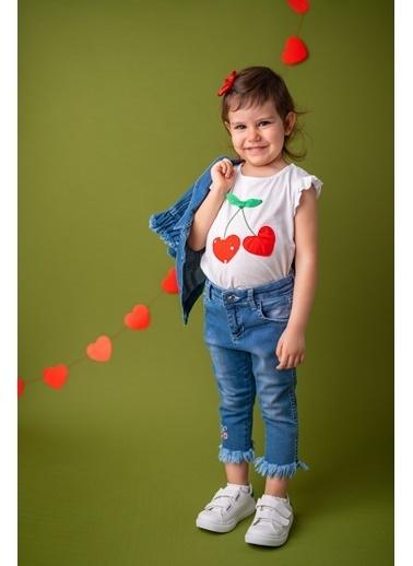Mininio Beyaz Cherry Aplikeli T-Shirt (9ay-4yaş) Beyaz Cherry Aplikeli T-Shirt (9ay-4yaş) Beyaz